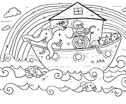Free Children Coloring Pages Of Noah Ark Baby Shower
