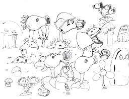 Coloring Pages Peashooters Learn How To Draw Imp From Plants Vs
