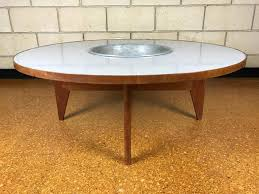 Planter coffee table Modern Midcentury Modern Rare Early Transitional George Nelson Round Coffee Table With Planter For Sale 1stdibs Rare Early Transitional George Nelson Round Coffee Table With
