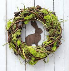 A Amazing Spring Outdoor Wreath With Rabbit And Moss Diy For Front Door  Summer Large Best Beautiful Artificial