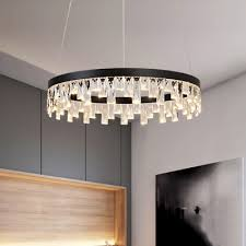 contemporary natural ice led chandelier tiered small medium large halo led chandelier 20