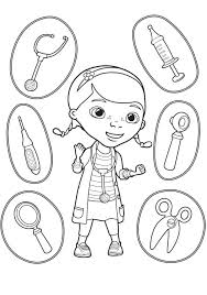 Doc Mcstuffins Coloring Sheets Pages With Stuffy Free Printable