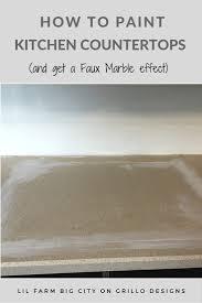 Fake Granite Kitchen Countertops How To Paint Kitchen Countertops