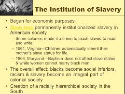 Image result for the institution of slavery