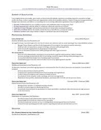 Resume Of An Executive Assistant Resume Cover Letter Template