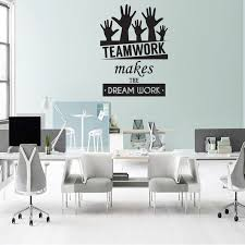 office wall decal. dream on walls teamwork makes the dreamwork office wall decal