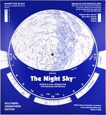 Star Charts For Southern Hemisphere Cardboard Night Sky Southern Hemisphere