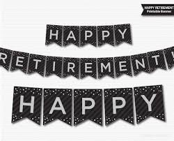 retirement banner clipart retirement banner printable black grey silver banner happy