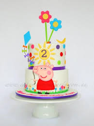 Two Tiered Peppa Pig Cake Cake By Leah Jeffery Cake Me To Your