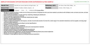Purchasing Officer Resume Resumes Templates