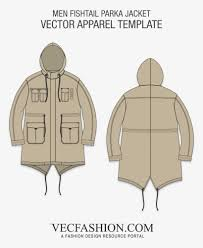 Designer Fishtail Parka Bomber Jacket Template Png Images Collection For Free