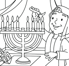 chanukah coloring pictures pages and with small cute boy page kids colouring story hanukkah
