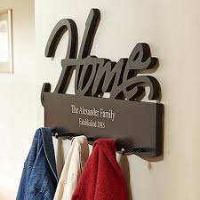 Personalized Family Coat Rack 100 Great Housewarming Gift Ideas For Family Housewarming gifts 10