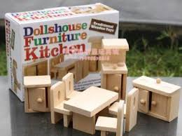 doll house furniture sets. Kitchen Furniture Miniature Wooden Dollhouse Sets Toys For Children Free Shipping Doll House S