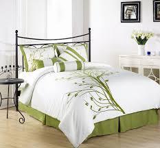white olive green forter set
