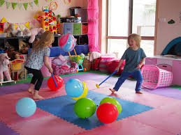 fun birthday party ideas for at home. balloon hockey fun birthday party ideas for at home