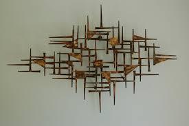mid century modern wall art metal