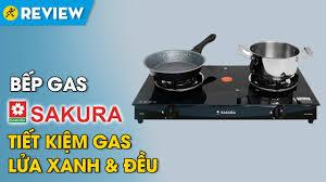 Bếp gas đôi Sakura: lửa xanh và đều, tiết kiệm gas (SA-695SG) • Điện máy  XANH - YouTube