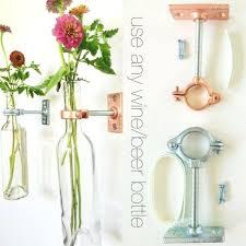 News Paper Flower Vase Wall Flower Vase Hardware Only Wine Bottle Wall Flower Vase