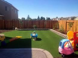 Plastic Grass Desert Edge California Backyard Playground Backyard
