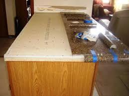 how to finish granite tile countertop edges