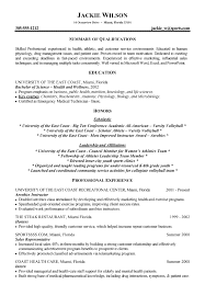 athletics health fitness resume example writing resume example