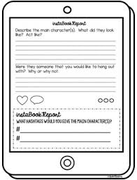 Book Report Template Instagram Book Report Template Reading Classroom Fun