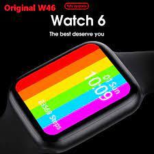 Eardots iWO W46 Smartwatch erkekler & kadınlar 1.75 inç sonsuz ekran özel  ekg vücut sıcaklığı izle PK IWO 12Pro|Akıllı Saatler