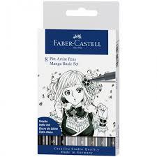 <b>Faber</b>-<b>Castell Набор</b> ручек капиллярных Pitt Artist Pen Manga ...