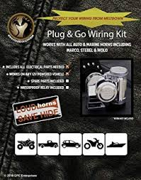 amazon com marco hurricane deep tone compact airhorn from fox plug and go wiring harness for marco tornado and other compact air horns