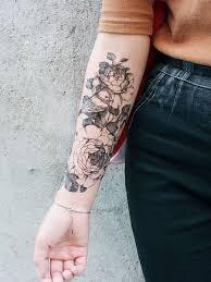 Flower Bird Pattern Tattoo Sticker
