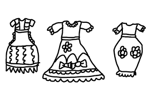 Small Picture Pretty Dress Coloring Pages for Kids to Learn to Color and Paint