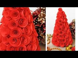 Paper Flower Christmas Tree 3d Paper Christmas Tree How To Make A 3d Paper Xmas Tree Diy