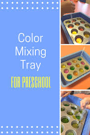 Color Mixing Tray No Time For Flash Cards