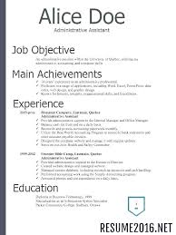 Type A Resume Format Job Resume Format For 2018 Job Application People2people