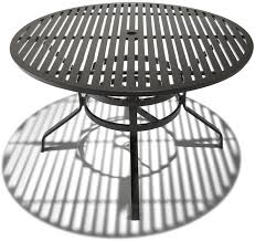 strathwood grand isle 48 inch round dining table with umbrella hole 650 x 613