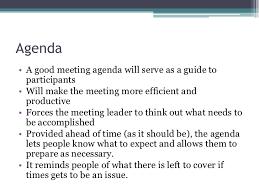how to make a agenda preparing an effective agenda