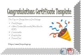 Congratulations Certificates Templates Congratulation Certificate Templates Bilir Opencertificates Co