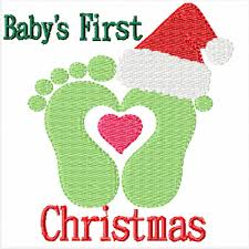 First Christmas Applique Design Babys First Christmas Machine Embroidery Designs For Baby