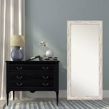 distressed mirrored furniture. Amanti Art Alexandria White Wash Wood 29 In. W X 65 H Distressed Floor/Leaner Mirror-DSW2968503 - The Home Depot Mirrored Furniture I