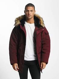 carhartt wip men winter jacket wip anchorage in red men s clothing dark red i02186682600 jinmfya