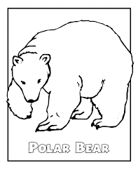 Small Picture Polar bear coloring pages on snow ColoringStar