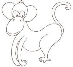 Scimmia Buffa Da Colorare Cose Per Crescere