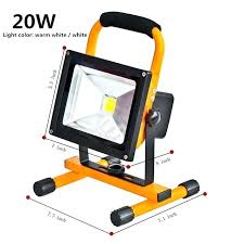 battery powered flood light led lighting rechargeable waterproof outdoor emergency lamp portable spotlight spot operated with