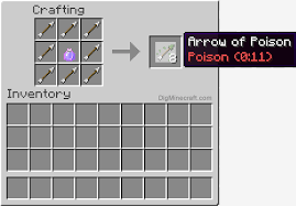 How To Make An Arrow Of Poison 0 11 In Minecraft