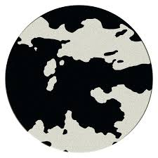 black round area rugs cowhide pattern round area rug black black area rugs