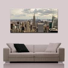 no frame large canvas print painting new york city empire state building photo modern wall art