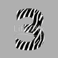 zebra font digit 3 3d ilration royalty free stock photos ilrations and 3d letters fonts