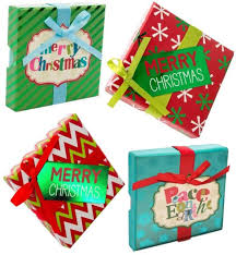 Gift Cards For Christmas Christmas Gift Card Holder Boxes With Ribbon Foil Set Of 4