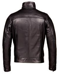black corbani genuine urban racer leather jacket back